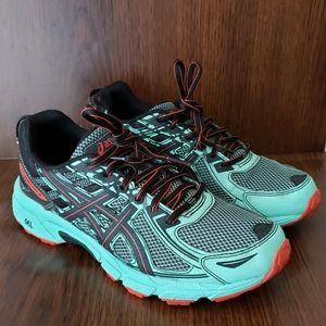 ASICS Gel Venture 6 Gray Teal Red Running shoe